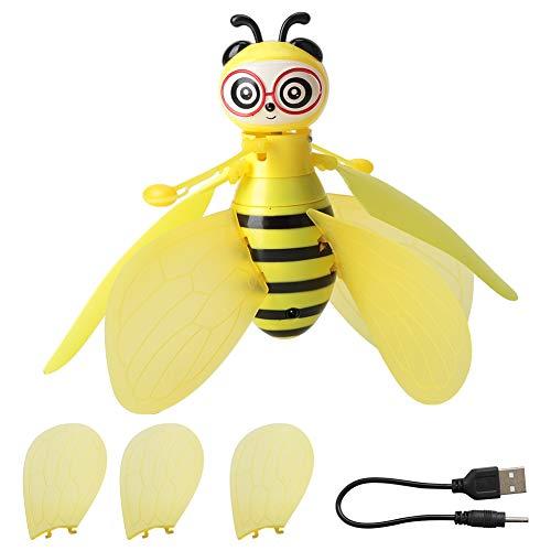 Fliegende Biene Spielzeug, RC Infrarot Induktions Drohne Hubschrauber mit Shinning LED Licht Handgesteuertes Spielzeug für Jungen Mädchen