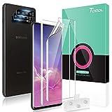 TOCOL 4 Pezzi Pellicola Compatibile con Samsung Galaxy S10 Plus 6.4 Pollice, 2 Pezzi TPU Pellicola Protettiva + 2 Pezzi Pellicola Fotocamera in Vetro Temperato HD Schermo Pellicola Senza Bolle