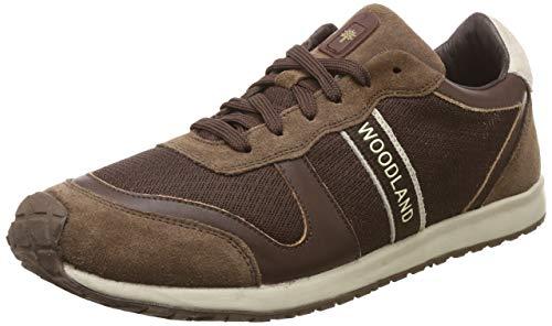 Woodland Men's Brown Leather Sneaker-9 UK (43 EU) (OGJ 1977116)