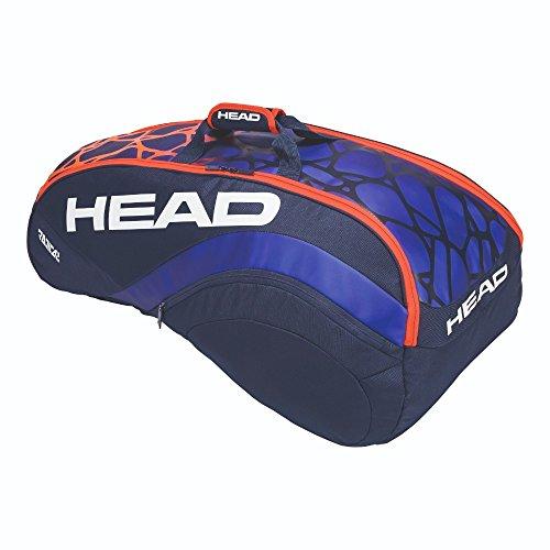 HEAD Radical 6R Combi Polyester, Polyurethan, Blau, Orange, Rucksack – Rucksäcke (Polyester, Polyurethan, Blau, Orange, Motiv, Unisex, Seitentasche, Reißverschluss)