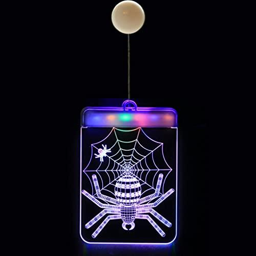 HehiFRlark Luces Colgantes Decoración de Halloween Luces de Cortina LED Luces de araña de Halloween araña 16 * 11.5cm