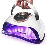 Lámpara LED UV Para Uñas 72W Secador De Uñas Para Esmalte De Gel De Curado Rápido Con 36 Perlas LED Luz De Uñas De Gel Con Pantalla LCD Sensor Inteligente