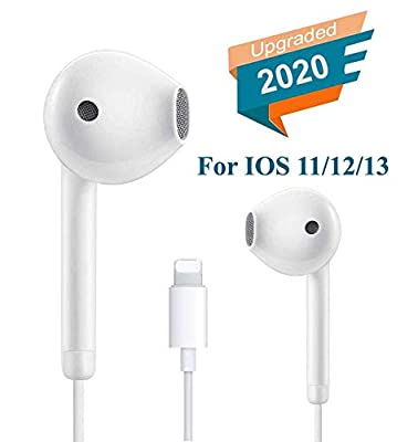 Lighting Earphones/Earbuds Connector,?Plug and Play? Headphones Noise Isolating Headset With Mic and Volume Control Compatible with iPhone 7/7 Plus/8/8 Plus/X 10/XS Max/XR for iOS 12