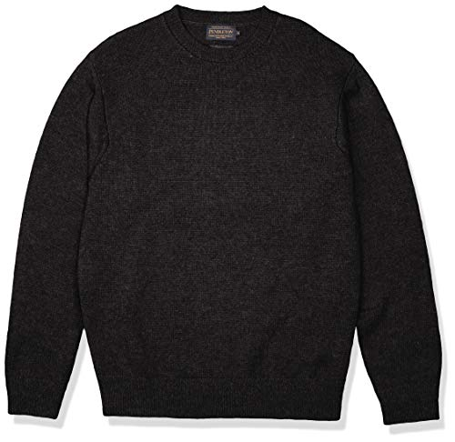 PENDLETON Men's Shetland Crew-Neck Sweater, Black Heather-63919, XXL