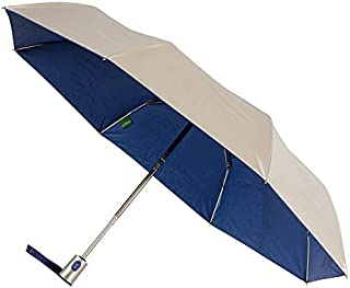 CLIFTON UMBRELLAS Silver Coated; Royal Blue Inside Automatic Umbrella, Silver and Royal Blue, One Size