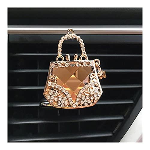 XIUHUA Decoración de Coches Diamante Purso Aire Aire Acenuado Auto Outlet Perfume Clip Clip Auto Difusor Difusor Bling Crystal Crazal Accesorios Mujeres Chicas (Color Name : Purse)