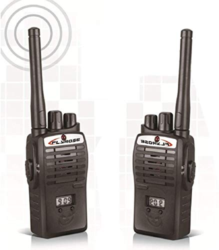 ANVITTOYWORLD Battery Operated Walkie Talkie Set for Kids (Black)