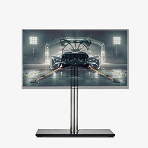 MKJYDM TV-Halterung 15-27-Zoll-Tischfuß drehbarer Lift LCD-TV-Basis Monitorfußhalterung Desktop-Desktop-Computer-Bildschirmhalterung links und rechts 360 ° Winkel 15 ° kann geladen werden 8kg 10X107.5