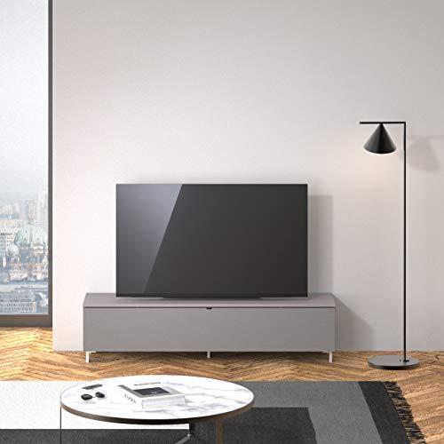 SPECTRAL® Just-Racks Lowboard mit Soundsystem JRB1601 (B/H/T) 160x38×40cm, Grey, Stofffront Grey