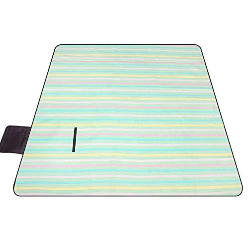 ZGYQGOO Couverture imperméable extérieure imperméable de Pique-Nique, Tapis de randonnée léger Portable d'humidité, 200 * 200cm