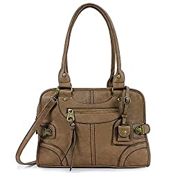 Scarleton Vintage satchel purse with top handle and removable & adjustable strap, The best affordable vintage purse