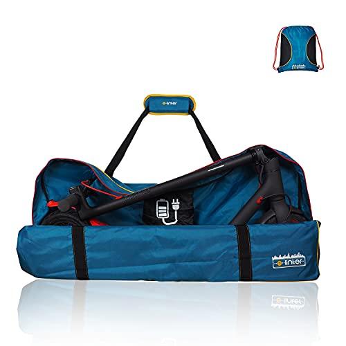 E-Linter: borsone protettivo per il trasporto di e-scooter con zaino, Tasca per caricatore, Borsa per monopattino elettrico, Compatibile con monopattini Xiaomi Pro 2, M365 Mijia e 1s, 114x20x49cm