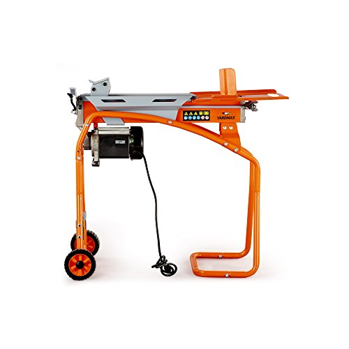 YARDMAX YS0552 5 Ton Electric Log Splitter, Stand, Log Tray