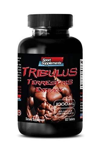 Testosterone Booster for Men Sex Pill - TRIBULUS TERRESTRIS Extract 1000MG - Muscle Strength - Tribulus terrestris Supplement - 1 Bottle 60 Tablets