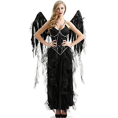 Pijamas para Mujer Pijama Sexy Disfraz De ngel Oscuro Vampiro De Halloween Cosplay Festival De Fantasmas Disfraz De Bruja-Negro_L