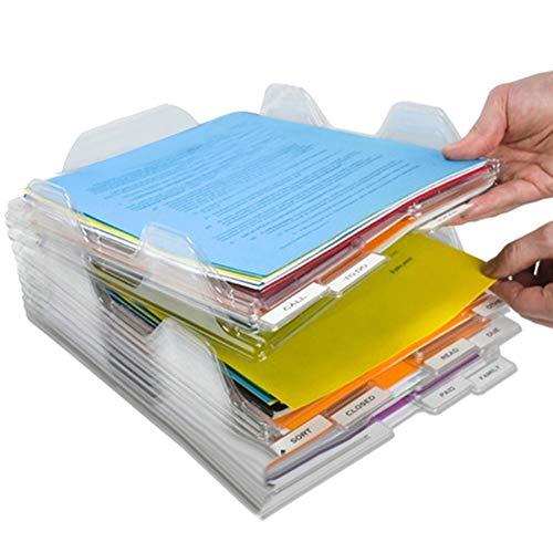 Afco Study Supplies College Students,Transparent Storage Box Document Paper Case File Box Holder Desktop Organizer 1pcs