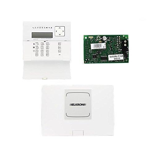 Elkron 80KT1N00111 Kit Allarme antintrusione Composto da Centrale MP500/8, Tastiera KP500D/N e Sintesi Vocale SV500N