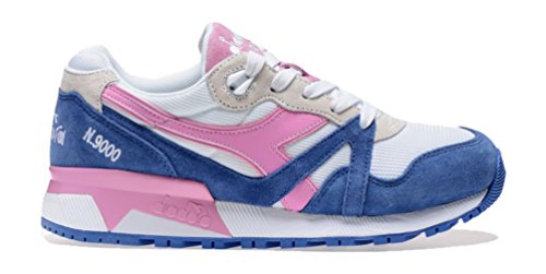 Diadora N9000 JR, Sneaker a Collo Basso Unisex – Bambini, Blu (Blu Principessa/Rosa Fucsia), 30 EU