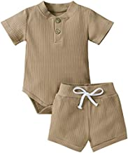 HZYKOK Boho Baby Boy Clothes Boutique Baby Girl Clothing Short Set for Toddler 12-18 Months