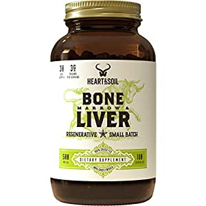 Health Shopping Heart & Soil Grass Fed Bone Marrow and Liver — Supports a Healthy Immune System, Mood, Energy, Bone, and Tissue Repair…