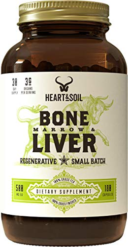 Health Shopping Heart & Soil Grass Fed Bone Marrow and Liver — Supports