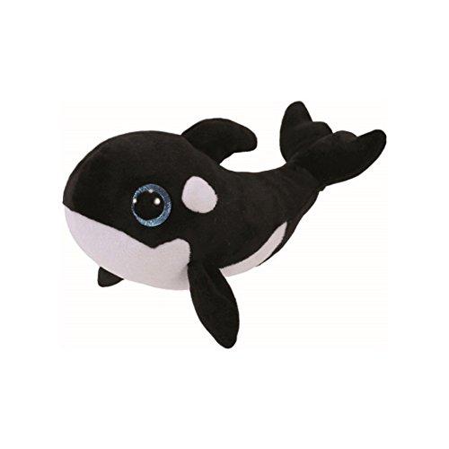 TY 36893 Nona, Orca 15cm, mit Glitzeraugen, Beanie Boo's, limitiert, Weiss/schwarz