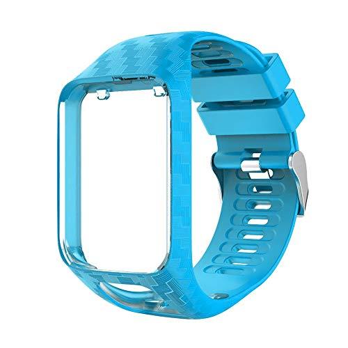Alinsea Bracelet Tomtom Adventurer Montre,Compatible Tomtom Runner 2 / Runner 3 / Spark 3 Bracelet de Montre de Sport Universel de Remplacement (Bleu)