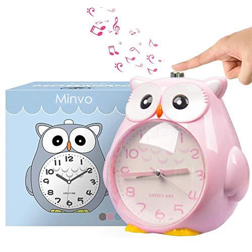 KOROTUS COLLECTION Wecker Kinder ohne Ticken Kinderuhr mit nachtlicht, Schlafzimmer Snooze Funktion Uhr mit Dim Yellow...