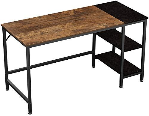 JOISCOPE Scrivania per Computer, Tavolo per Laptop,Tavolo in Stile Industriale Realizzato in Legno e Metallo,140 x 60 x 75 cm(Finitura Della Quercia Vintage)