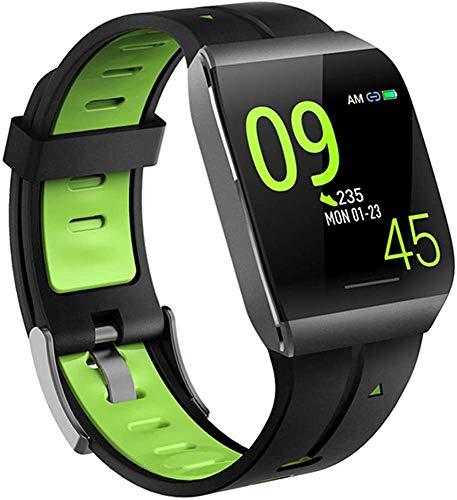 Fitness Tracker Activity Tracker Herzfrequenzmesser Blutdruckmessgerät SPO2-Monitor Wasserdichter Schlafmonitor Kalorien-Schrittzähler Uhr 18-grün