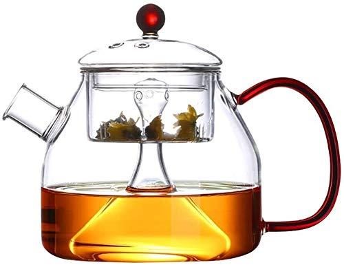 Bouilloire induction Théière théière transparente théière bouillie théière bouillante eau filtre filtre Théière à la vapeur à la vapeur à la maison bureau extérieur WHLONG