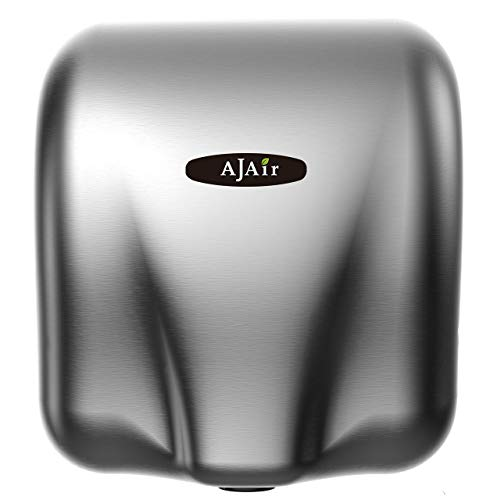 AjAir® Heavy Duty Commercial 1800 Watts Automatic Hot Hand Dryer - Stainless Steel Ajair Hand Dryer