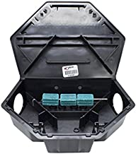 Bell Labs PROTECTA BAIT STATION FOR RATS, Low Profile (LP) BLACK, CASE OF SIX