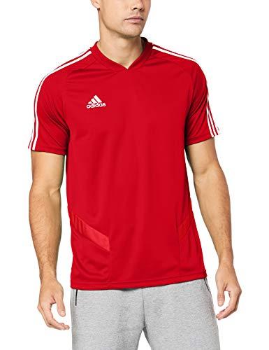 adidas TIRO19 TR JSY Camiseta de Manga Corta, Hombre, Power Red/White, L