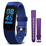 MorePro Blood Pressure Heart Rate Monitor Fitness Activity Tracker with Sleep Monitor,Waterproof Smart Band with Calorie Step Counter,Health Smart Watch with 2 Straps for Women Men Kids Gifts (Blue)