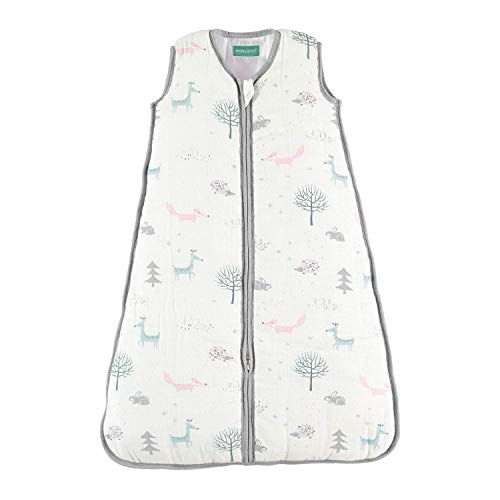"""Sleeping Bag Baby, Super Soft and Warm Muslin Wearable Blanket for Baby,6-12 Months. 30.3"""". Ideal for Winter.Unisex Forest,2.5 TOG"""