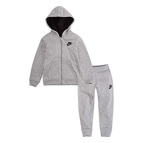 NIKE Children's Apparel Baby Boys Hoodie and Joggers 2-Piece Outfit Set, Dark Grey Heather, 18M