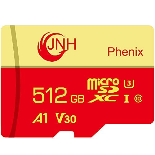 microSD 512GB Nintendo Switch 動作確認済JNH超高速読取/書込最大速度100MB/80MB Class10 UHS-I U3 V30 4K Ultra HD アプリ最適化A1対応【国内正規品】