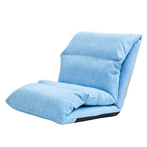 JGWJJ Chaise Longue de Salon de Chaise de Jeu de Jeu de Plancher de Tissu de Personnalisation réglable Moderne Vivant à la Maison (Couleur : Bleu)