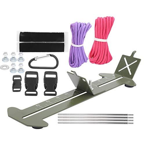 Teror Bracelet Braiding Tool,Paracord Bracelet Weaving Jig Kit Stainless Steel Wristband Maker DIY Braided Frame