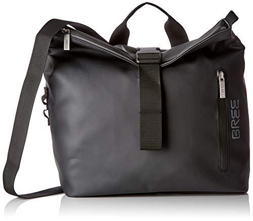 BREE Unisex-Erwachsene PNCH 722 Messenger Bag S Umhängetasche, Schwarz (Black), 12x36x33 cm