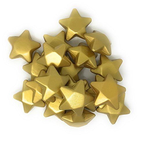 Sea View Treasures 20 Bulk 3' Gold Star Award Stress Relievers - Perfect Office Awards, Student Prizes, or Camp Trophies