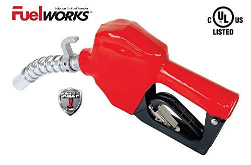 FUELWORKS Auto Shut-Off Farm Vehicle Nozzle, 3/4'' Inlet Size, 15/16