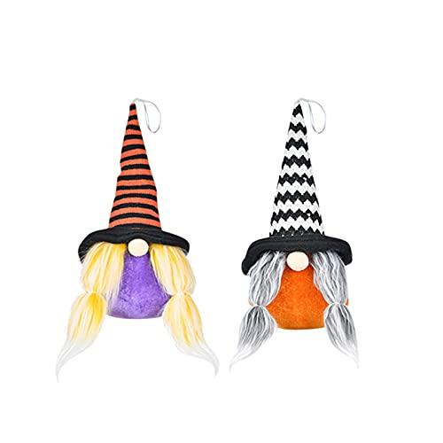 Briskorry Gnome - Muñeca de peluche sin cara para Halloween, diseño creativo de festival, regalo para niños, niñas, enano, antena de Halloween, juguete de fiesta, 2 unidades