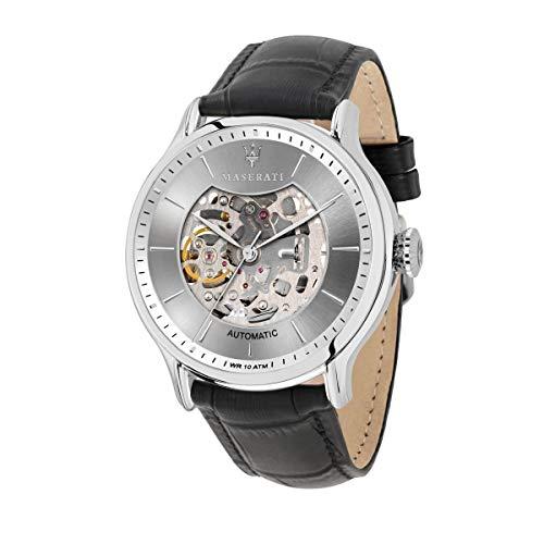 Reloj para Hombre, Colección Epoca, Movimiento mecánico automático, Solo Tiempo, en Acero y Cuero - R8821118005