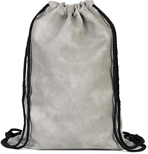styleBREAKER Bolsa de Deporte de Cuero Artificial, Mochila, Bolsa de Deporte, Bolso, Unisex 02012189, Color:Gris Claro