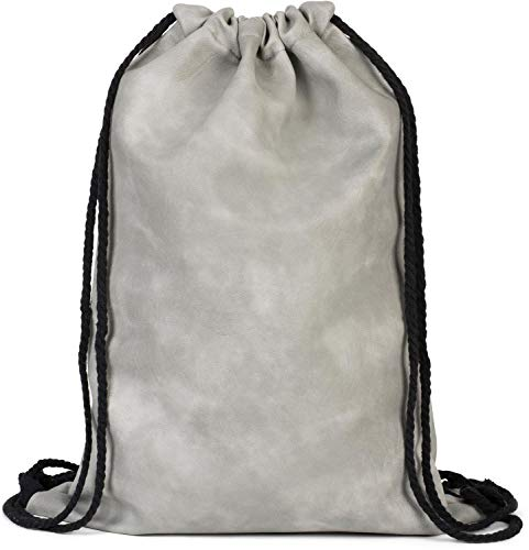 styleBREAKER borsa sportiva in pelle sintetica, borsa sportiva, zaino, bauletto, unisex 02012189, colore:Grigio chiaro