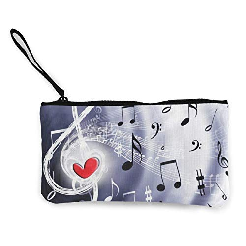 Canvas Coin Purse for Women Girls Animal Cow Zipper Change Pouch with Strap