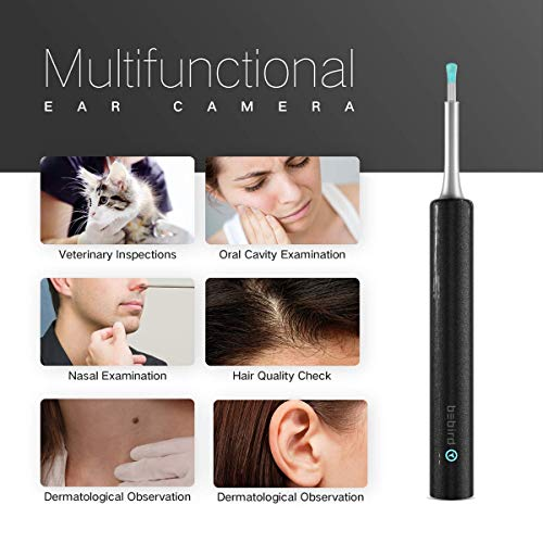 BEBIRD® C3 Ear Wax Removal, Ear Cleaner with Camera Wireless Otoscope with 1080P HD Waterproof Digital Endoscope with 6 LED Light, Mom Gadgets for Baby Ear Cleaners Checking