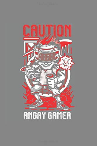 Caution Angry Gamer: Cool Animated Design For Gamer Pro Player Video Game Lover Notebook Composition Book Novelty Gift (6